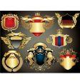 gold heraldry vector image