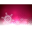 Red magic sky and snow winter abstract background vector image