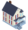 isometric country home vector image vector image