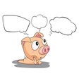 A pig with empty callouts vector image vector image