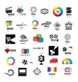 Collection of logos tv video photo film vector image vector image