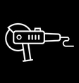 angle grinder icon vector image vector image