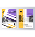 Layout design template annual report brochure vector image vector image
