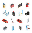 car maintenance service isometric icons vector image