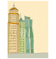 City Towers Drawing vector image