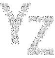 floral ornamental letter vector image
