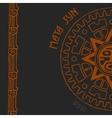 Maya sun half vector image
