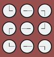 Minimal clocks vector image