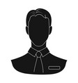 person single icon in black styleperson vector image
