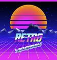 retro futuristic background vector image