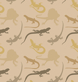 Seamless pattern with lizards vector image