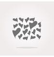 Valentine heart sign set web button vector image