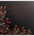 Dark grunge flower with heart vector image