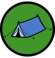 Pop up tent vector image