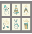 Christmas and New Year Cards Collection vector image