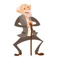 Happy old man vector image