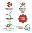collection of logos spektorny vector image vector image