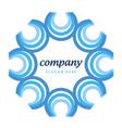 logo blue semicircles vector image