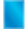 blue vertical frame with plants vector image vector image