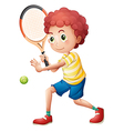 A young tennis player vector image
