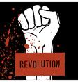 revolution poster fist symbol vector image vector image