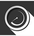 black icon - dial with shadow vector image