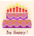 applique birthday cake vector image