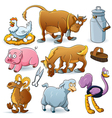 Farm Animal Collection vector image vector image