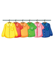Clothes hanging vector image vector image