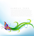 butterfly eco vector image