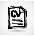 CV - Curriculum vitae resume grunge icon vector image