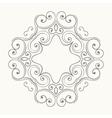 Elegant luxury retro floral frame vector image
