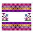Geometric seamless ethnic ornament vector image