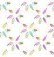 Ice cream popsicle frozen yogurt seamless pattern vector image
