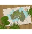 jungle map australia cartoon adventure vector image