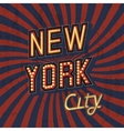 Vintage New York Poster vector image