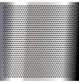 Chrome - sheet metallic vector image vector image