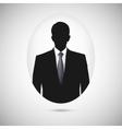 Male person silhouette Profile picture whith tie vector image