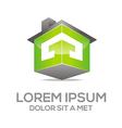 Logo Texture House Real Estate vector image