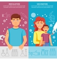 Child And Adult Vaccination Banner Set vector image vector image