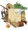 Safari Concept with Map vector image
