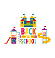beautiful children playground with back to school vector image