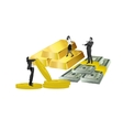 business people gold money and coins vector image
