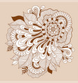 doodle floral drawinghenna tattoo flower template vector image