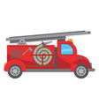 Fire truck cartoon vector image