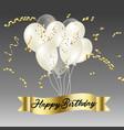 happy birthday with confetti vector image