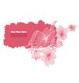 pink floral banner vector image