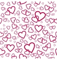 seamless pattern with pink hearts vector image