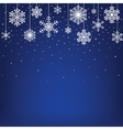 Christmas card with hanging snowflakes vector image vector image