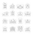 House line icons set vector image